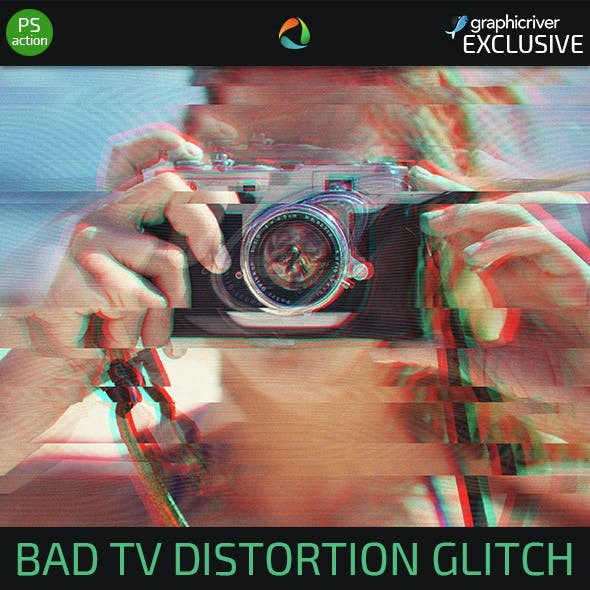 Bad TV Distortion Glitch Effect Action