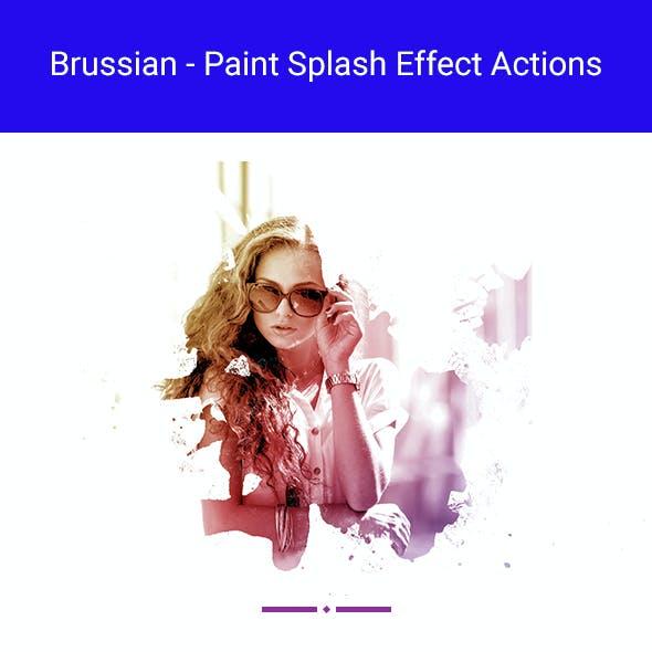 Brussian - Paint Splash Effect Actions