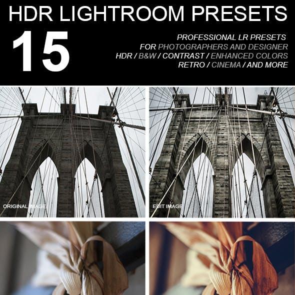 15 HDR Preset LR