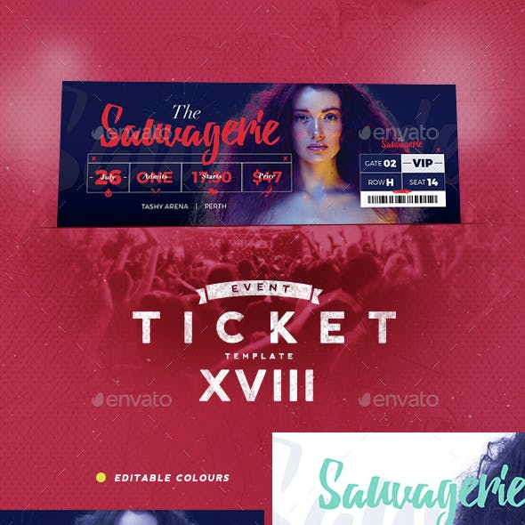 Event Tickets Template XVIII