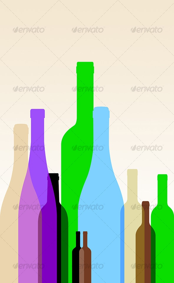 Colorful Bottles - Man-made Objects Objects