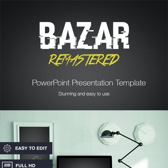 Bazar Remastered - PowerPoint template