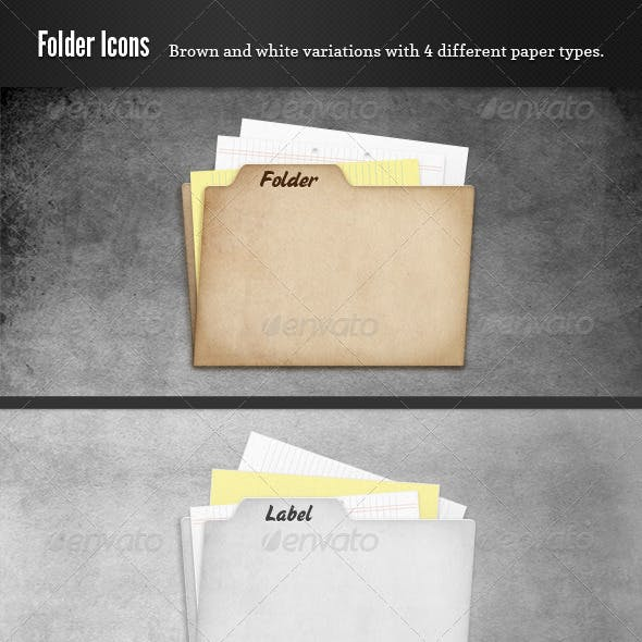 Cardboard Folder and Papers