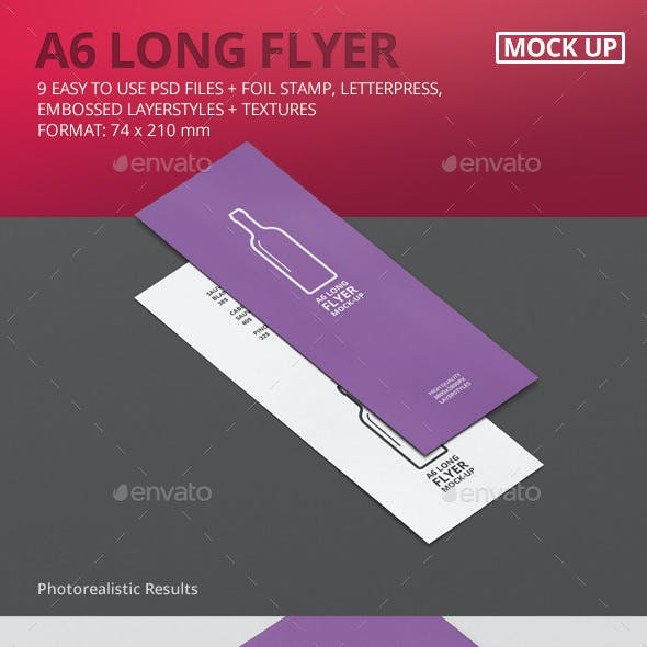 A6 Long Flyer Mock-Up