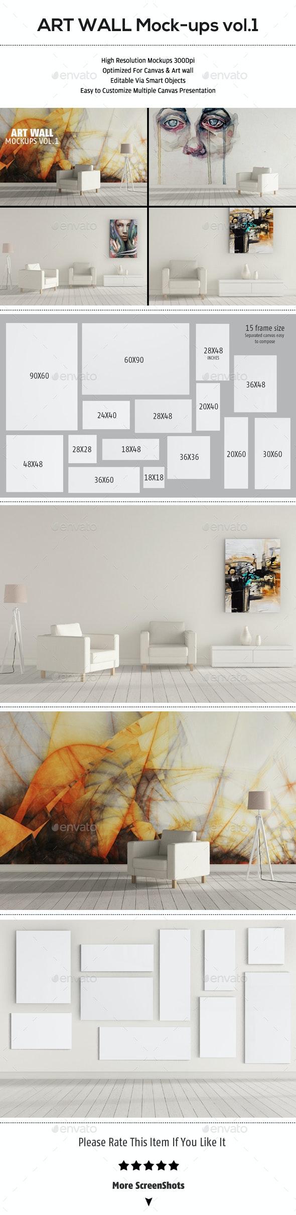 Art Wall Mockups Vol.1 - Product Mock-Ups Graphics