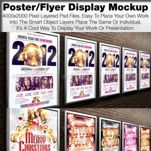 Poster/Flyer Display Mock Up