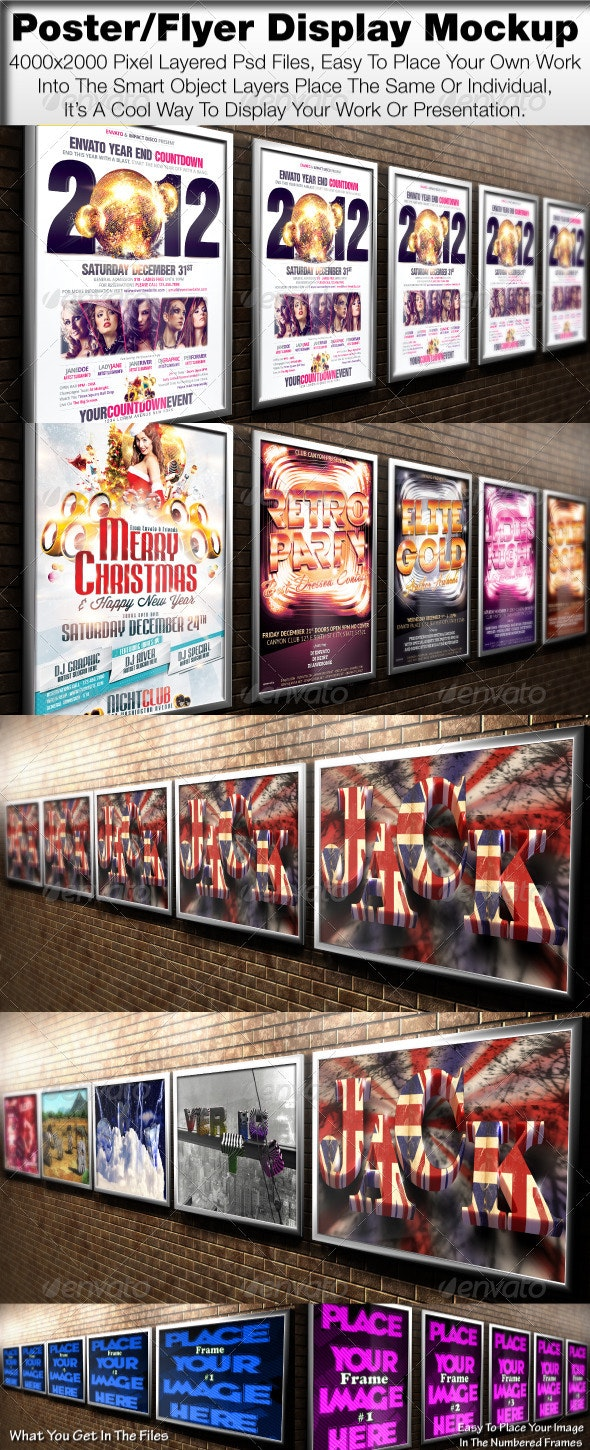 Poster/Flyer Display Mock Up - Posters Print