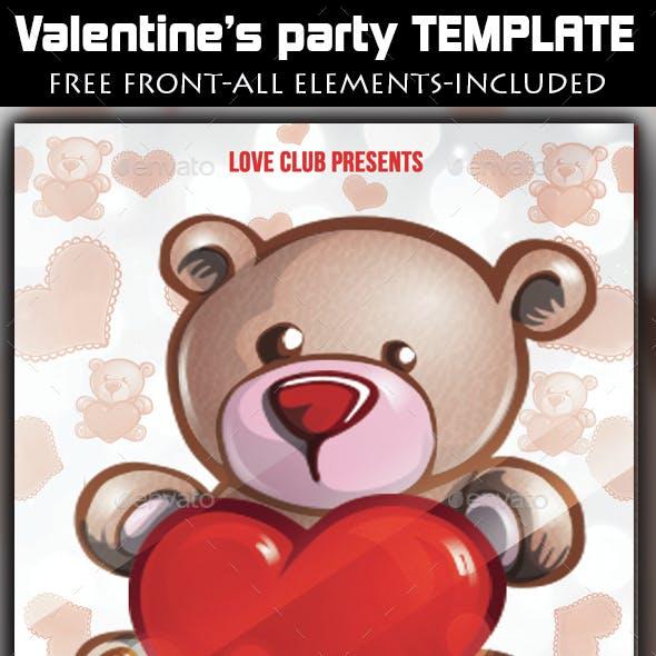 Teddy Bear Valentine's Party
