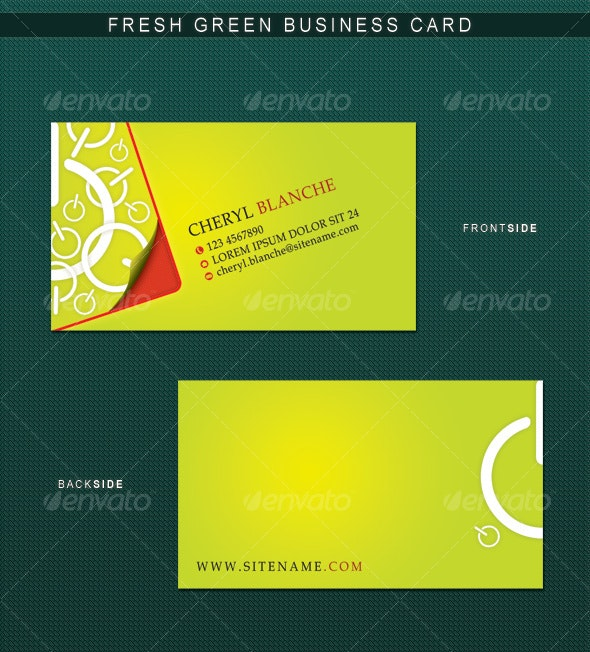 Fresh Green Business Card - Creative Business Cards
