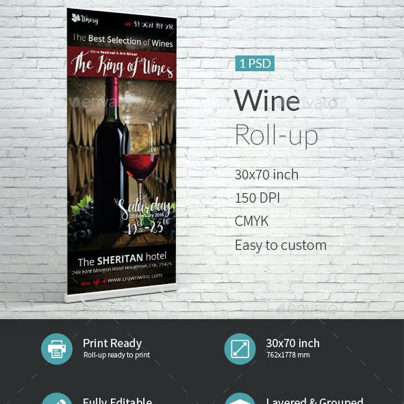 Wine Roll-Up Template