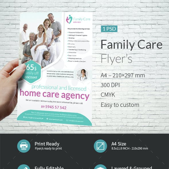 Family Care A4 Flyer Template