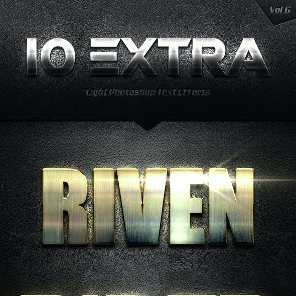 10 Extra Light Text Effects Vol.6