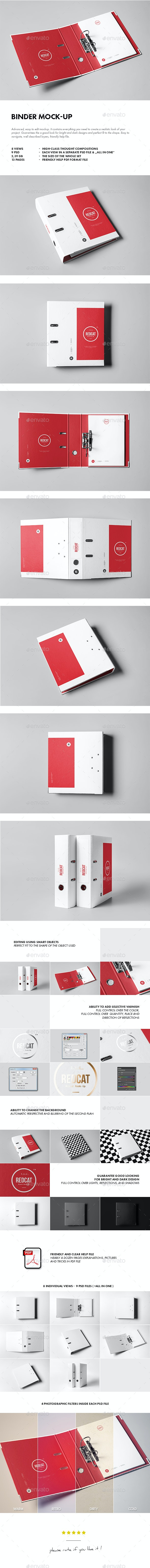 Binder Mock-up - Stationery Print