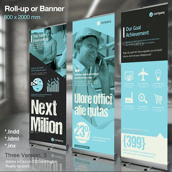 Corporate Roll-up or Banner Vol. 4