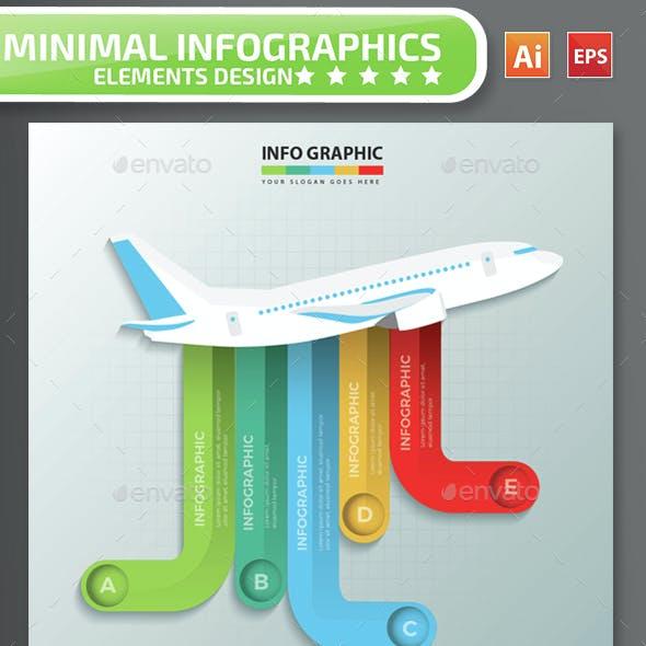 Minimal Airplane Infographics Design