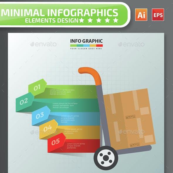 Minimal Cargo Infographics Design