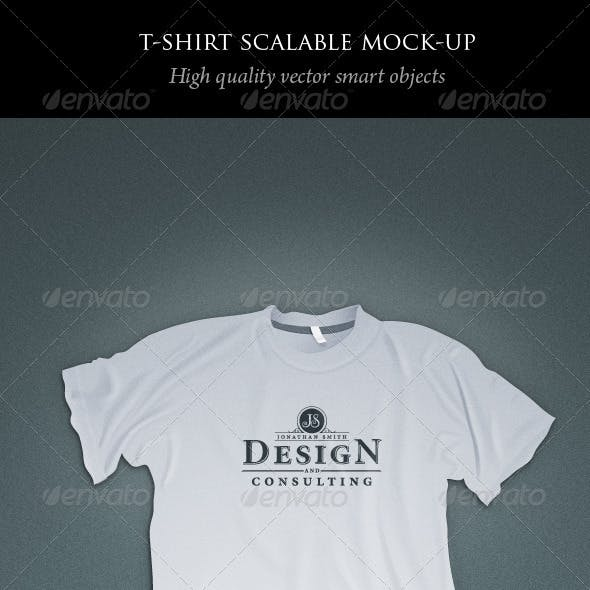 Scalable T-shirt Mockups