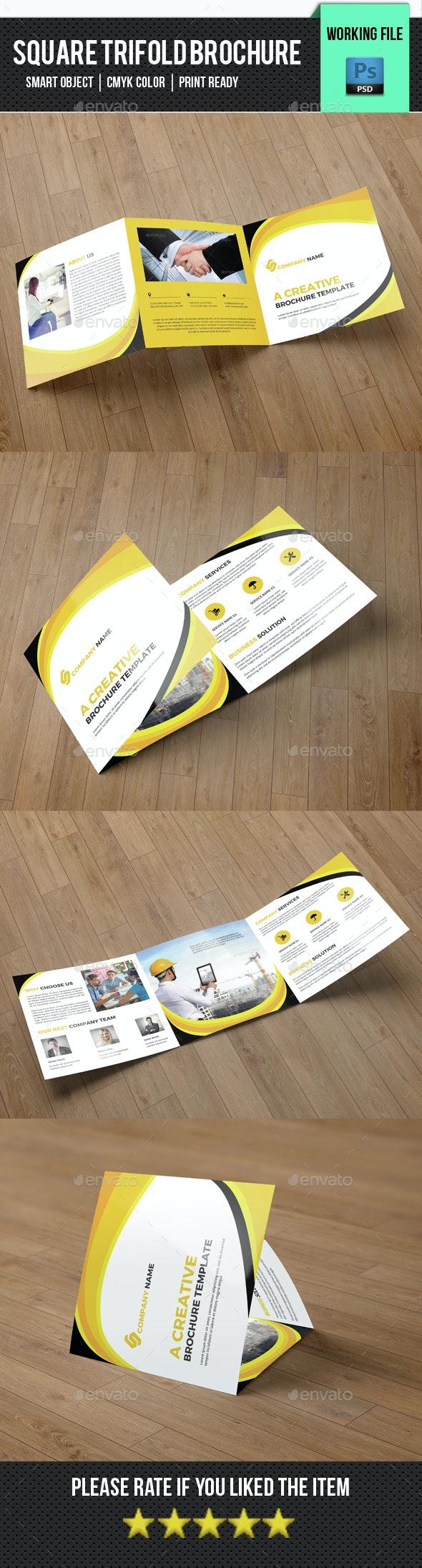 Square Creative Brochure-V81 - Brochures Print Templates