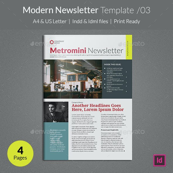 Modern Newsletter Template v03