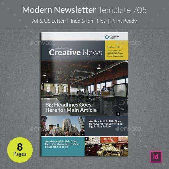 Modern Newsletter Template v05