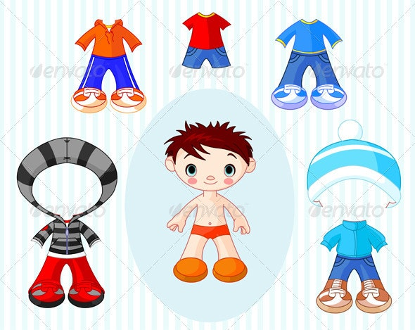 Boy with clothes - People Characters