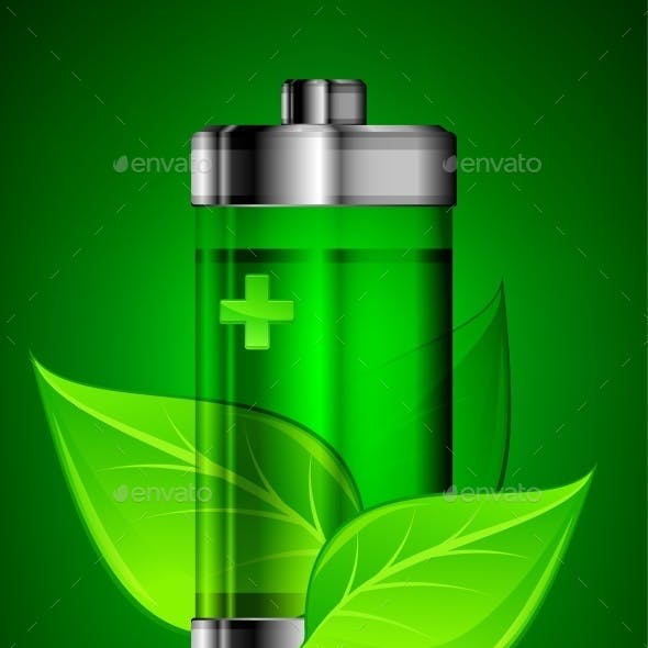 Battery with Leaves