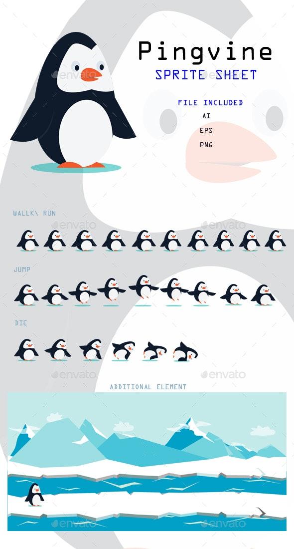 Penguin - Sprite Sheet - Sprites Game Assets