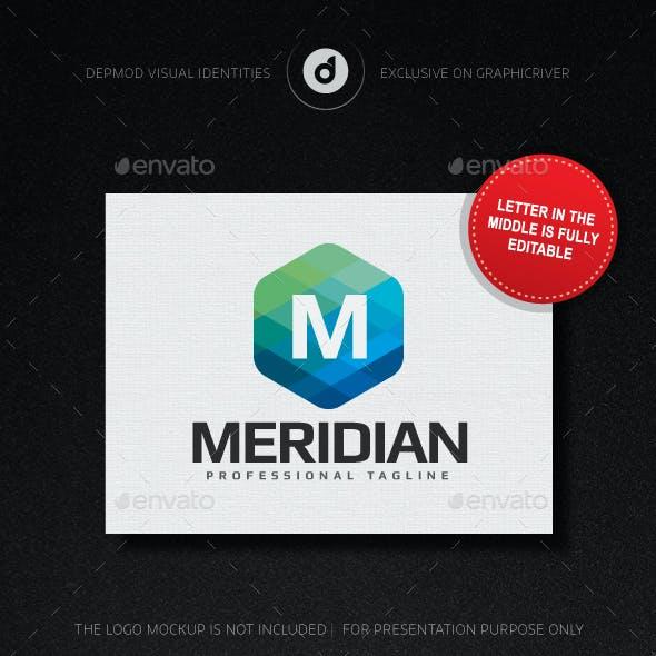 Meridian Logo (Editable letter)