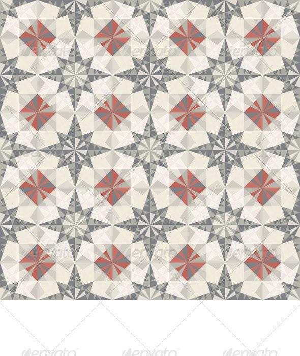 Vector Seamless Pastel Geometric Pattern - Patterns Decorative
