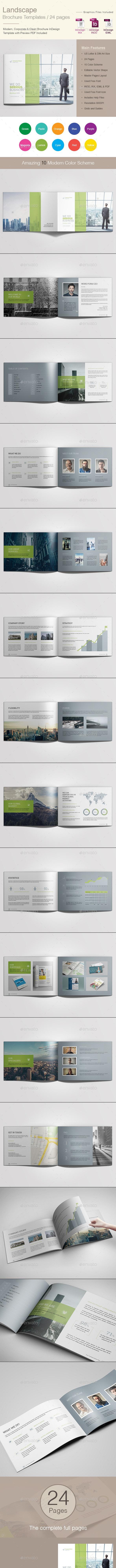 Landscape Brochure Templates - Corporate Brochures