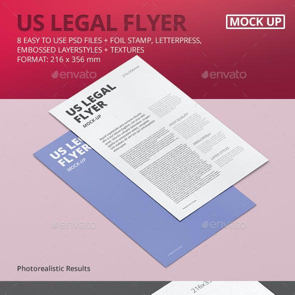 US Legal Flyer Mock-Up
