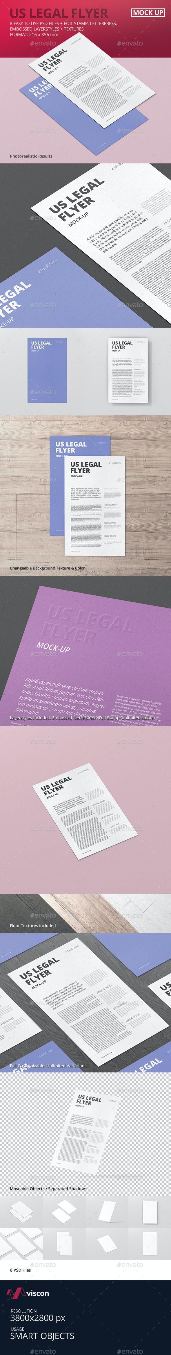 US Legal Flyer Mock-Up - Flyers Print