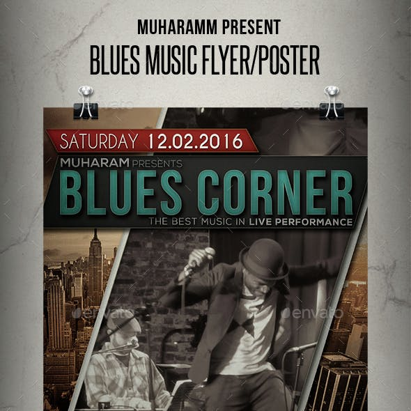 Blues Music Flyer / Poster