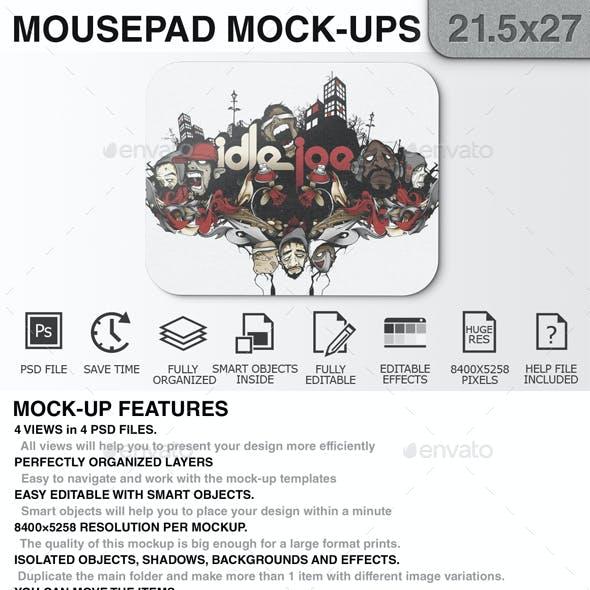 Mouse Pad Mockups - 21.5 x 27 - Corner Type 2