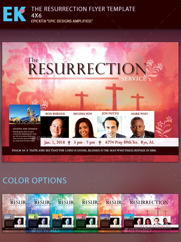 The Resurrection Flyer Template - Miscellaneous Events