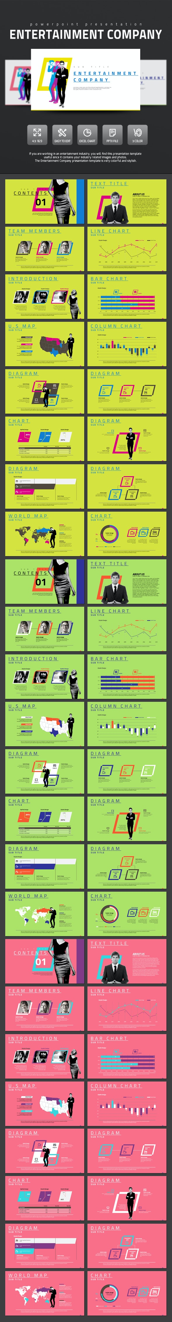 Entertainment Company - PowerPoint Templates Presentation Templates