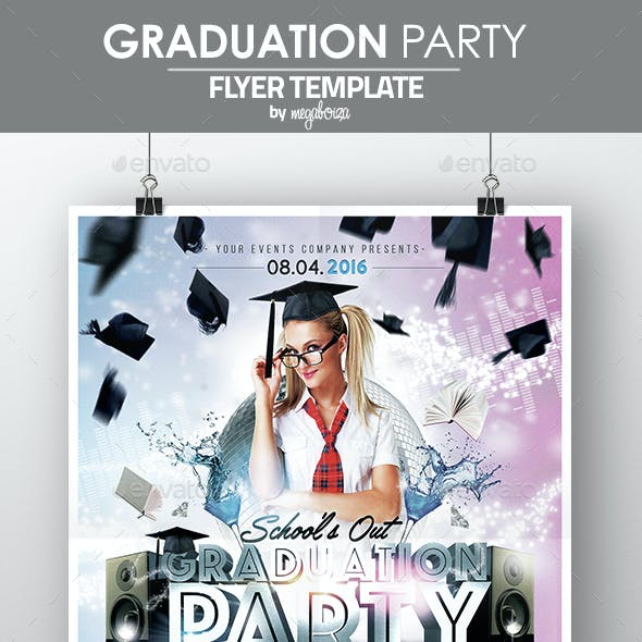 Graduation Party Flyer / Poster Template