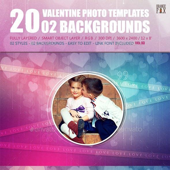 20 Valentine Photo Templates - Vol.03