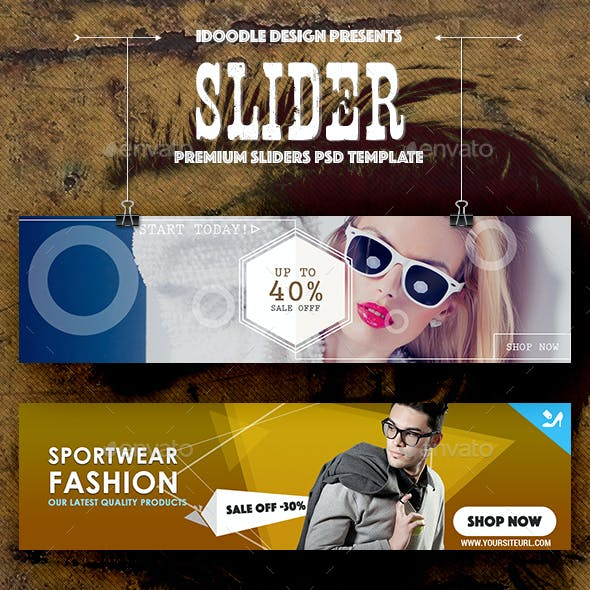 Sliders Product Banners Ads - 20 PSD