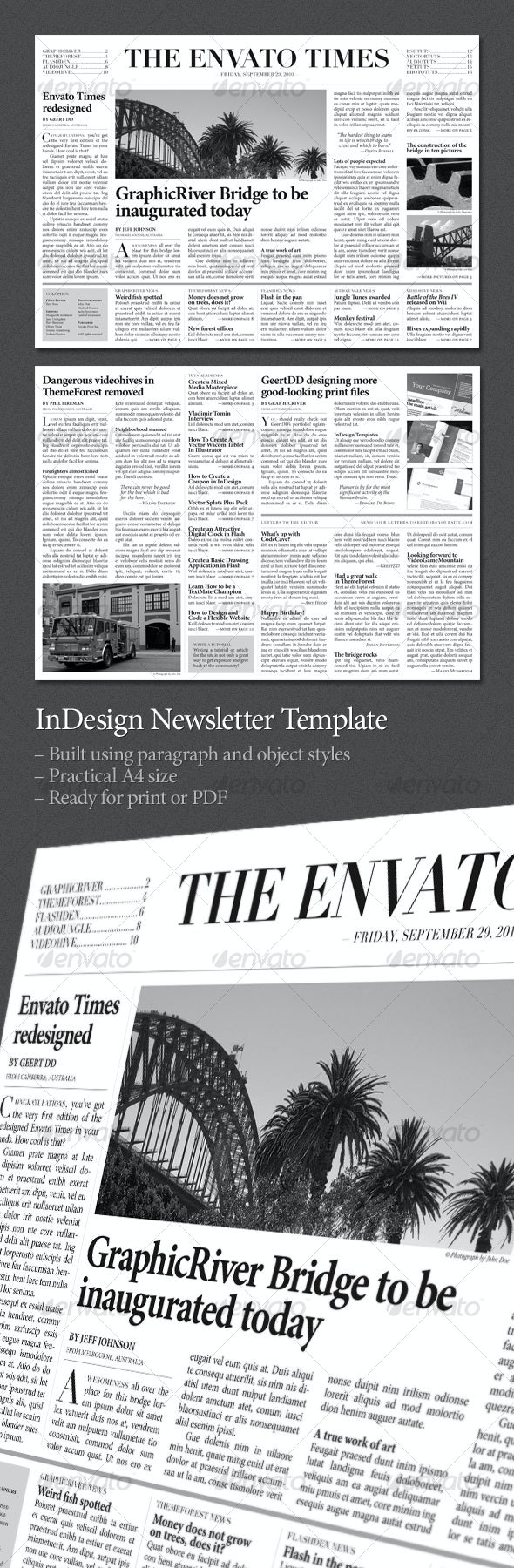 Newspaper (2 pages) - Newsletters Print Templates