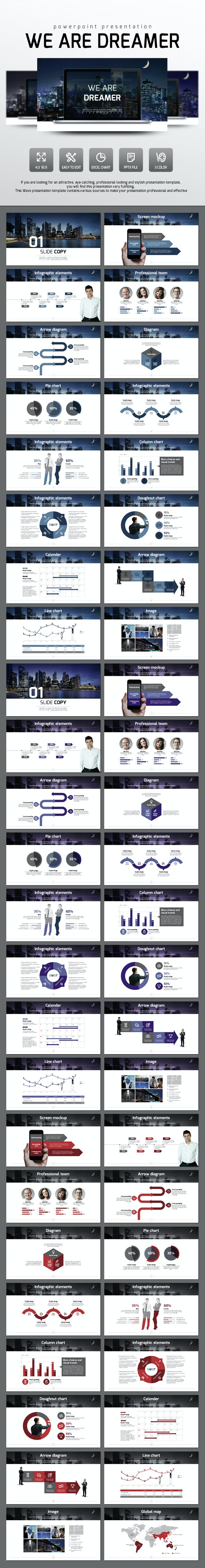 We Are Dreamer - Business PowerPoint Templates