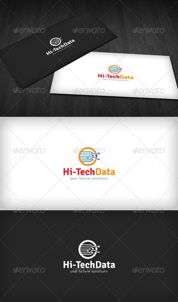 Hi-Tech Data Logo - Vector Abstract