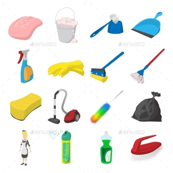 Cleaning Cartoon Icons