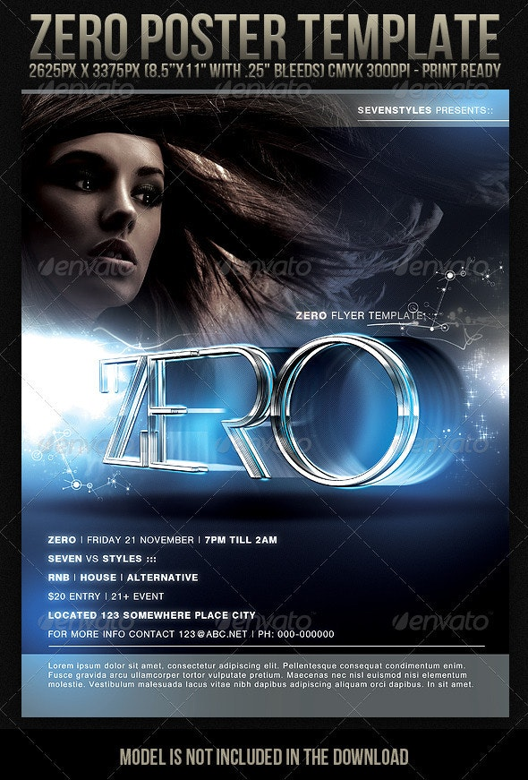 Zero Flyer Template - Clubs & Parties Events