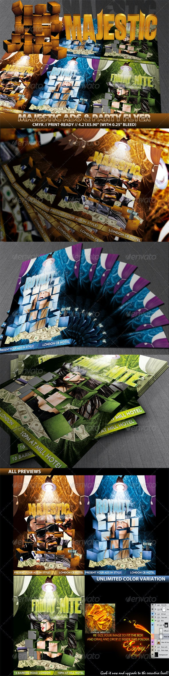 Majestic Flyer Templates - Clubs & Parties Events