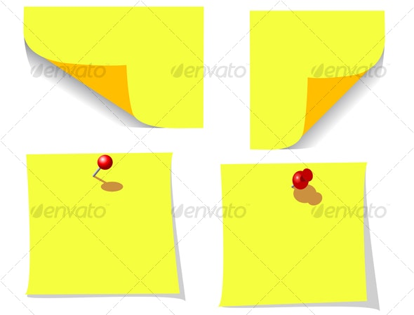 Office note papers with pins  - Backgrounds Business