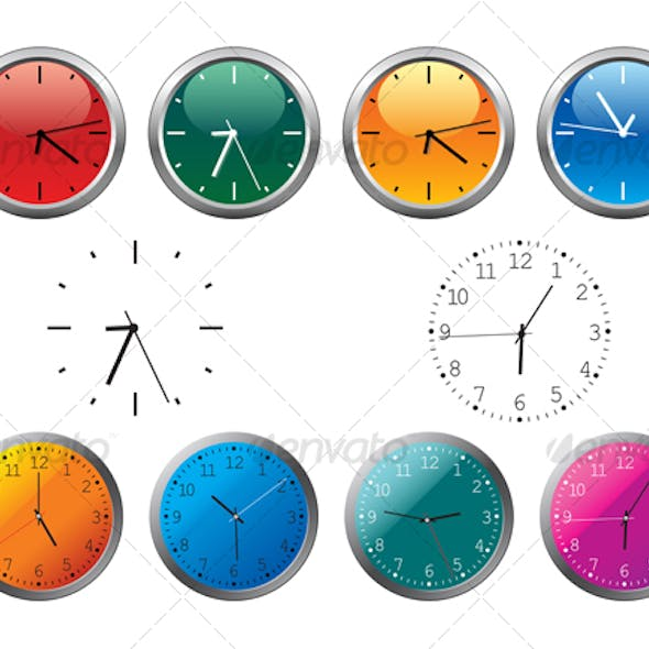 Office clocks and dial