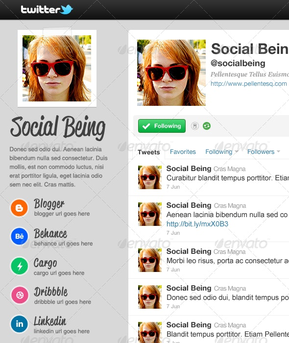 Chuck - Twitter Background - Twitter Social Media