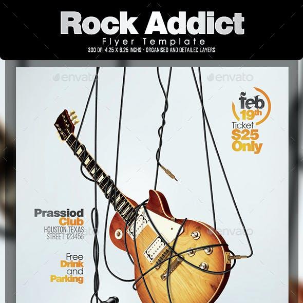 Rock Addict Flyer Template