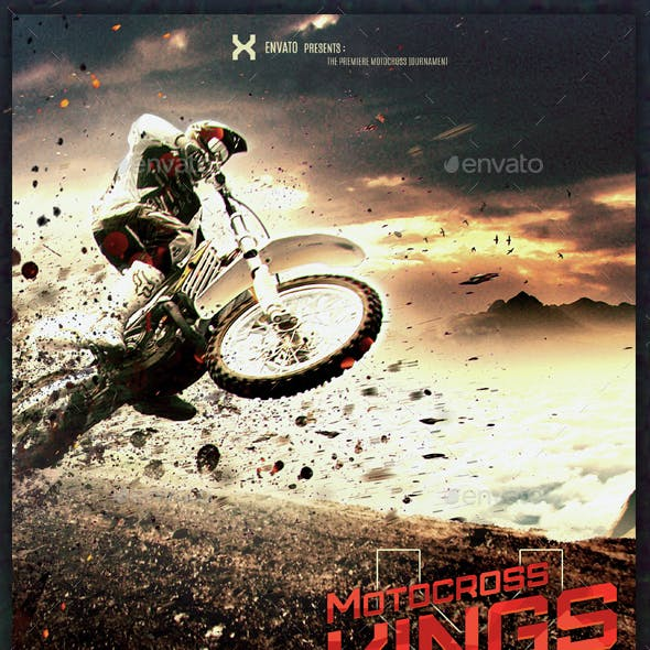Motocross Kings - Motocross Flyer Template
